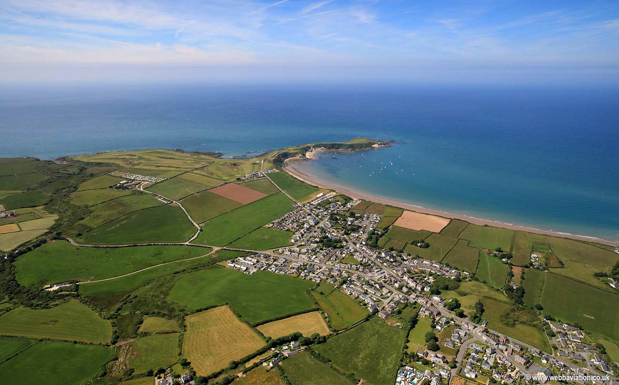 Morfa Nefyn on the Llŷn  Peninsiula North Wales  aerial photograph