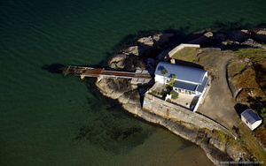 old lifeboat station Abersoch  Llyn Peninsula  Wales  from the air