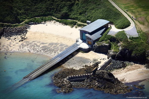 Porthdinllaen Lifeboat Station  on the Llŷn  Peninsiula North Wales  aerial photograph