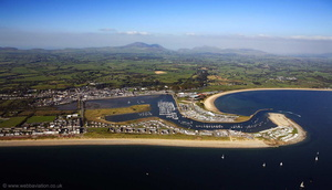 Pwllheli Wales  from the air