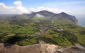 Trefor North Wales  aerial photograph