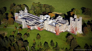 Penrhyn Castle from the air