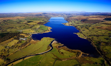 Lake Bala ( Llyn Tegid ) aerial photograph