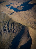 The Rhyd Ddu Path Mount Snowdon  Wales UK, Wales panorama from the air