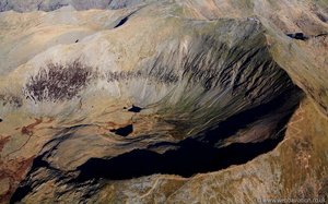 Bwlch Main Snowdon Wales aerial photograph