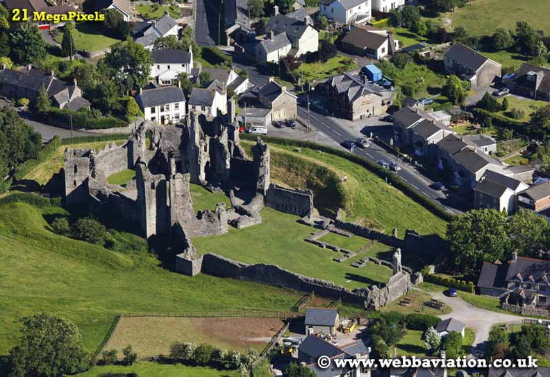Coity Castle  Wales aerial photograph