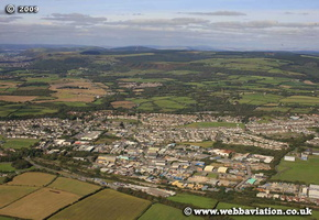 Pyle ( Y Pîl )   Bridgend county borough, South Wales aerial photograph