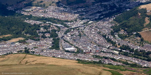 Porth Rhondda Cynon Taf South Wales from the air
