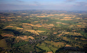 Berriew near  Welshpool Powys from the air