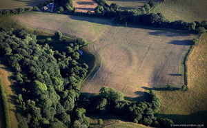 Pound House defended enclosure in Powys Wales from the air