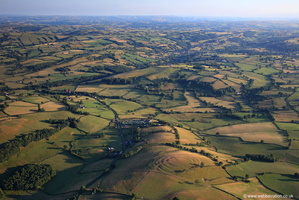 Pentre Camp  Iron Age multivallate Hillfort in Powys from the air