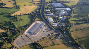 Buttington Cross Enterprise Park Welshpool  from the air