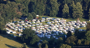 Caravans Welshpool  from the air