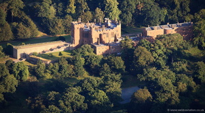Powis Castle from the air