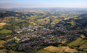 Welshpool from the air