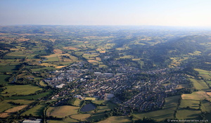 Y Trallwng / Welshpool from the air