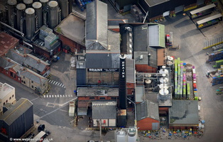 Brains Brewery Cardiff aerial photograph