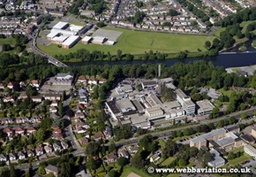 Cardiff South Glamorgan Wales UK aerial photograph