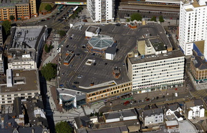 Capitol Centre Cardiff aerial photograph