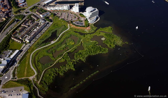 Cardiff Bay Wetlands Reserve  aerial photograph