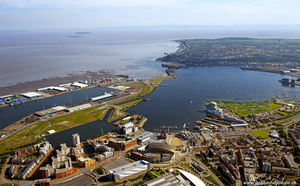 Cardiff Bay aerial photograph