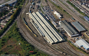 Cardiff Canton Traction Maintenance Depot TMD   aerial photograph