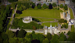 Cardiff Castle aerial photograph