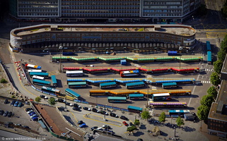 Cardiff Central bus station aerial photograph