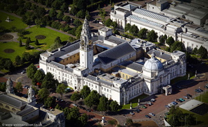 Cardiff City Hall aerial photograph