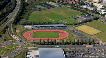 Cardiff International Sports Stadium   aerial photograph