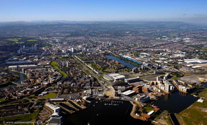 Cardiff Wales aerial photograph