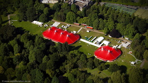 circus Bute Park Cardiff  aerial photograph