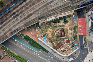 construction of the Clayton Hotel Cardiff aerial photograph