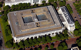Crown Buildings, Cathays Park Cardiff  aerial photograph