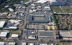 Hadfield Road - Penarth Rd Industrial area  Cardiff  aerial photograph