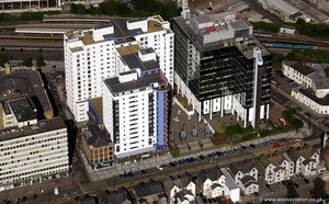 Landmark Place Cardiff CF10 aerial photograph
