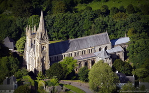 Llandaff Cathedral Cardiff  aerial photograph