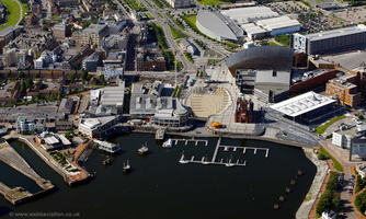 Mermaid Quay Cardiff aerial photograph
