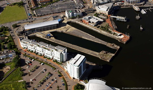 Mount Stuart Dry Docks Cardiff   aerial photograph