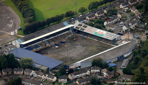 Ninian Park football stadium Cardiff South Glamorgan Wales UK aerial photograph
