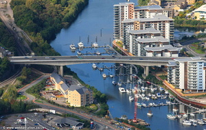River Ely Bridge Cardiff aerial photograph