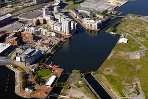 Roath Basin, Cardiff Docks aerial photograph