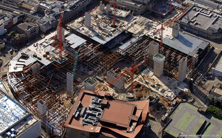 construction of the St David's shopping centre in Cardiff (phase 2 )  aerial photograph