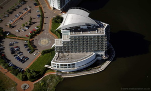 St David's Hotel Cardiff  aerial photograph