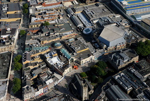 St Davids Centre  Cardiff aerial photograph