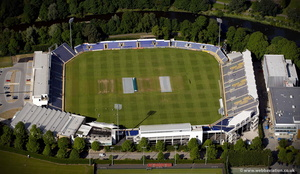Sophia Gardens cricket ground  aerial photo