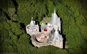 Castell Coch aerial photograph