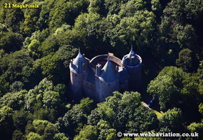 Castell Coch South Wales aerial photograph