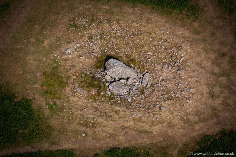 Maen Ceti ( Arthur's Stone ) from the air