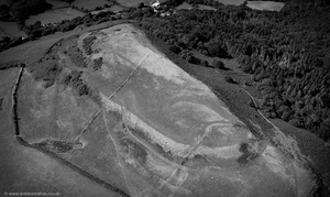 Cil Ifor Top hill fort  Llanrhidian from the air